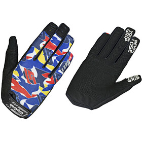 GripGrab Rebel Youngster Rugged Full Finger Gloves Kids blue camo